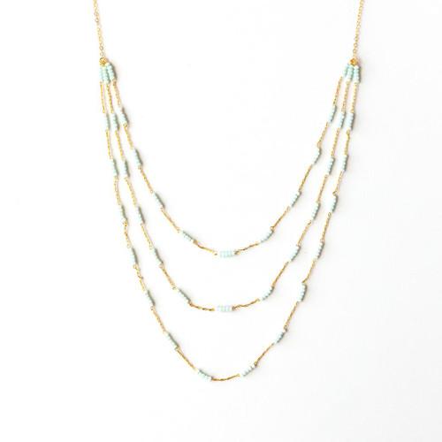 Padgett Hoke Triple Turquoise Necklace
