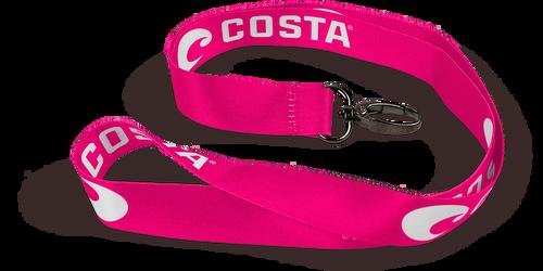 Costa Lanyard Pink (White Logo)