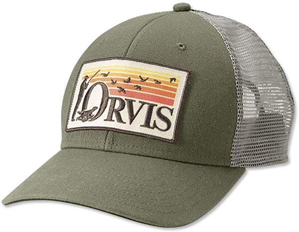Orvis Retro Flush Trucker - Olive