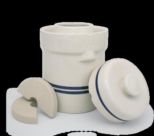 2 Gallon Water Seal Fermentation Crock Starter Kit