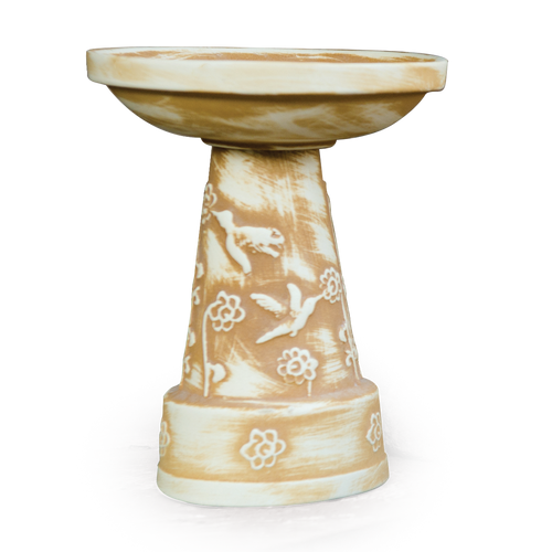 Heritage ~ Mini Birdbath in Heritage Brown