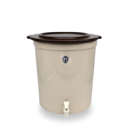5 Gallon Crock Keg with Cover [Spigot SOLD SEPARATELY]