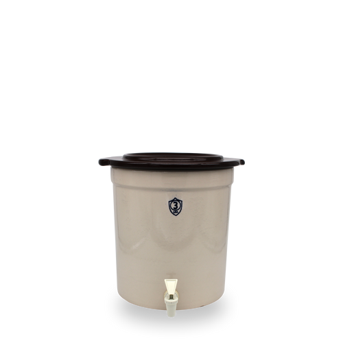 3 Gallon Crock Keg with Cover [Spigot SOLD SEPARATELY]