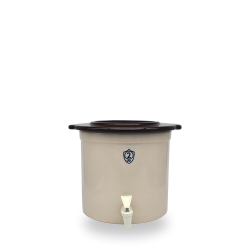 2 Gallon Crock Keg with Cover [Spigot SOLD SEPARATELY]