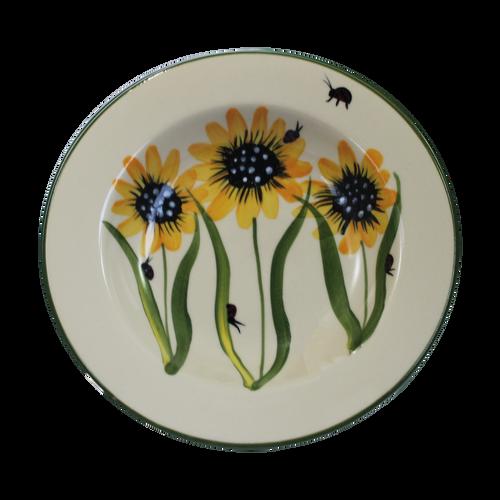 Salad Bowl in Sunflower Pattern