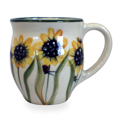 Latte Mug in Sunflower Pattern