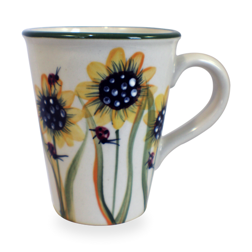 Tall Mug in Sunflower Patter