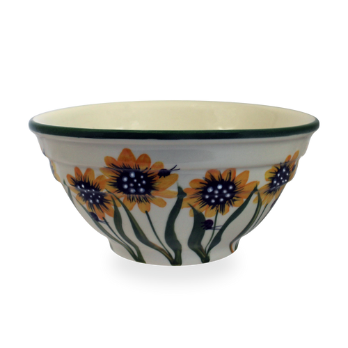 Two-Rib Bowl in Sunflower Pattern