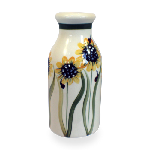 Milk Bottle in Sunflower Pattern