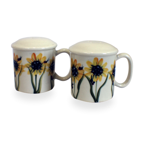 Salt & Pepper Shakers in Sunflower Pattern