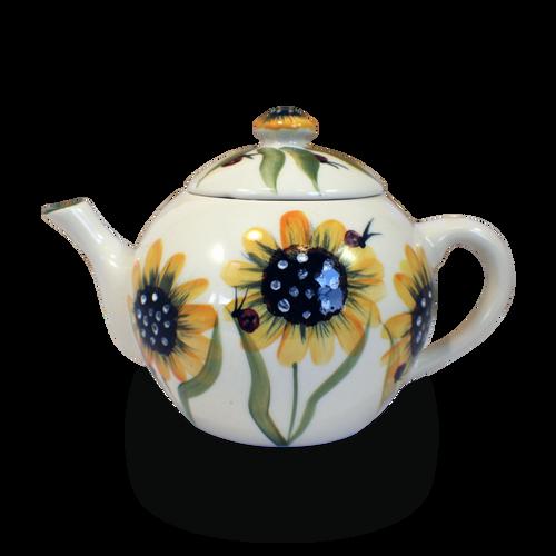 Teapot in Sunflower Pattern
