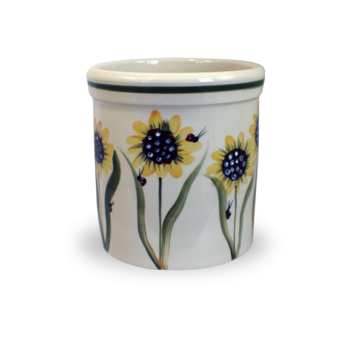 One Gallon Crock in Sunflower Pattern