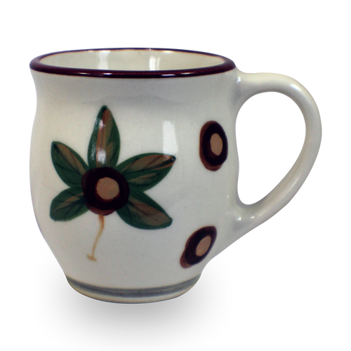 Latte Mug in Our Modern Buckeye Pattern