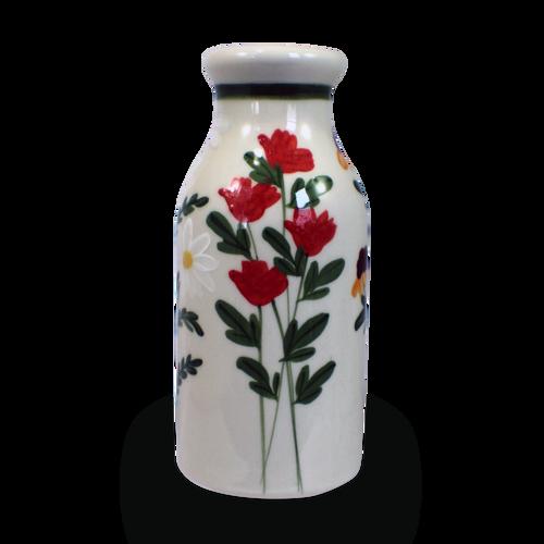 Milk Bottle in Our Summer Garden Pattern