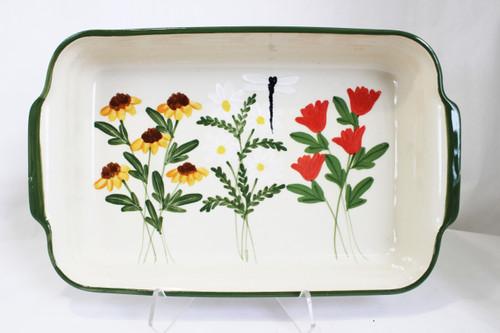 Summer Garden Pattern ~ Rectangular Baker