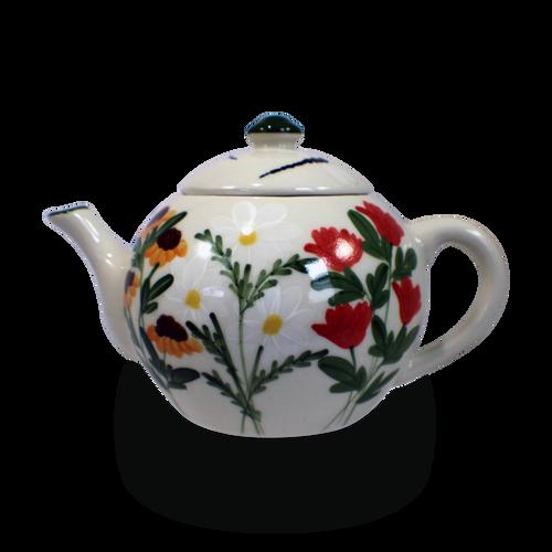 Teapot in Our Summer Garden Pattern