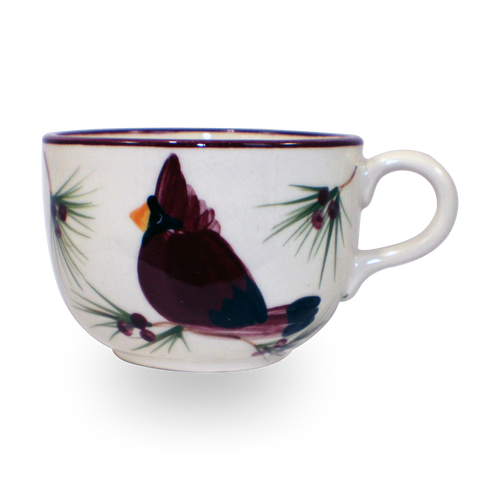 Jumbo Mug in Our Cardinal Pattern [Front View]