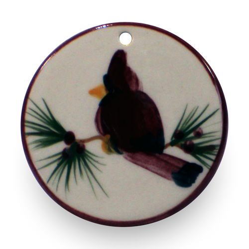 Ornament in Our Cardinal Pattern [Front View]