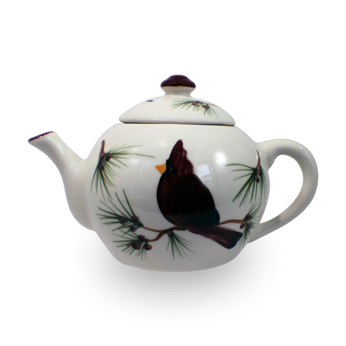 Teapot in Our Cardinal Pattern