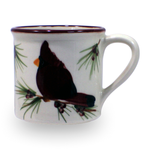 Traditional Mug in Our Cardinal Pattern [Front View]