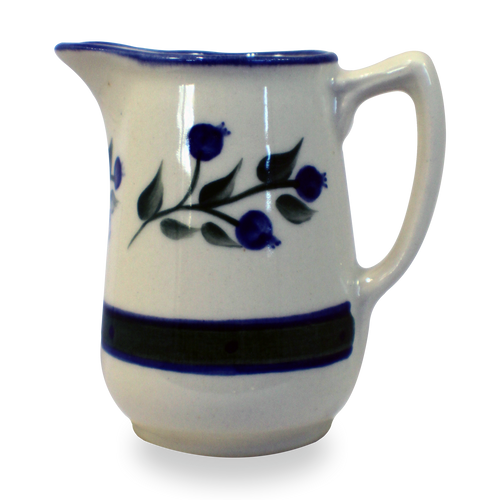 10 ounce Creamer in Our Wild Blueberry Pattern