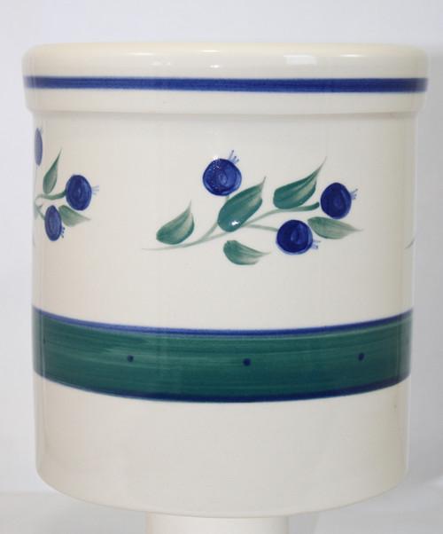 Wild Blueberry Pattern ~ One Gallon Crock