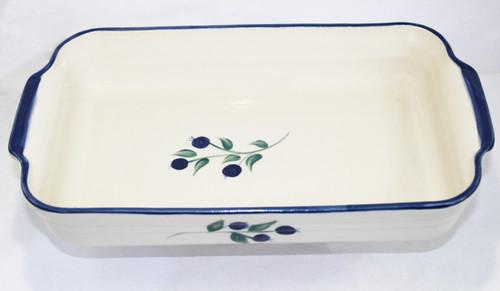 Wild Blueberry Pattern ~ Rectangular Baker