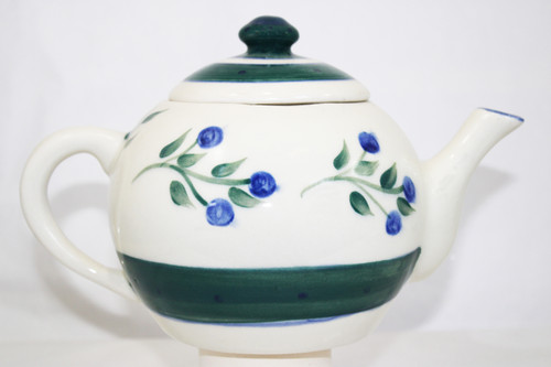 Wild Blueberry Pattern ~ Teapot