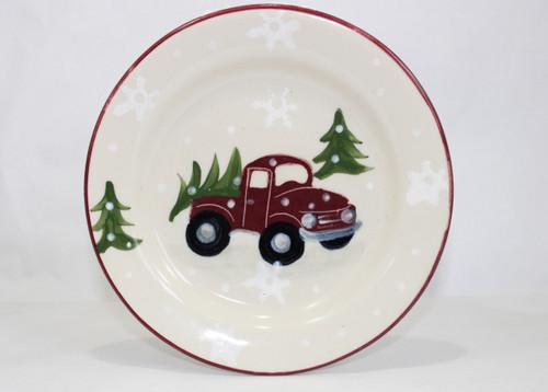 Red Truck Pattern ~ Dessert Plate