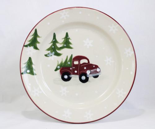 Red Truck Pattern ~ Dinner Plate
