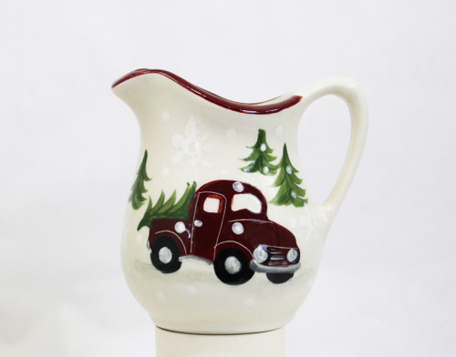 Red Truck Pattern ~ Fancy Pitcher