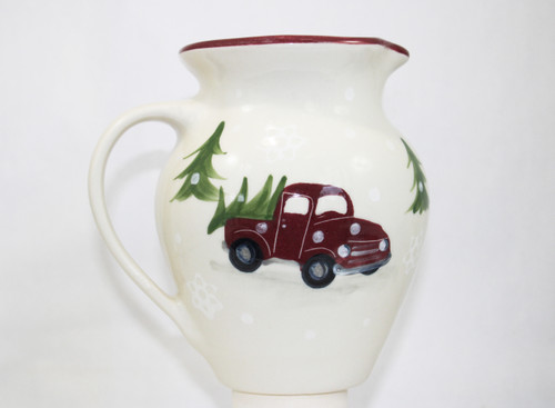 Red Truck Pattern ~ Half-Gallon Pitcher