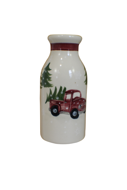 Red Truck Pattern ~ Milk Bottle
