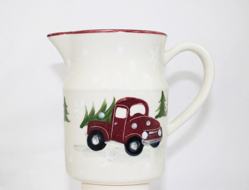 Red Truck Pattern ~ One-Quart Pitcher