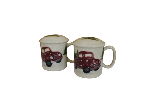 Red Truck Pattern ~ Salt & Pepper Shakers