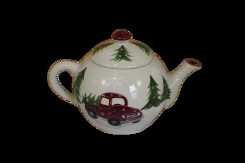 Red Truck Teapot