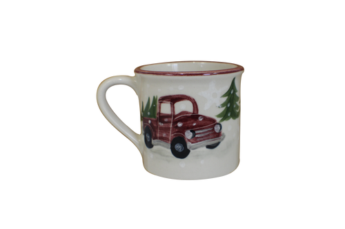 Red Truck Traditional Mug
