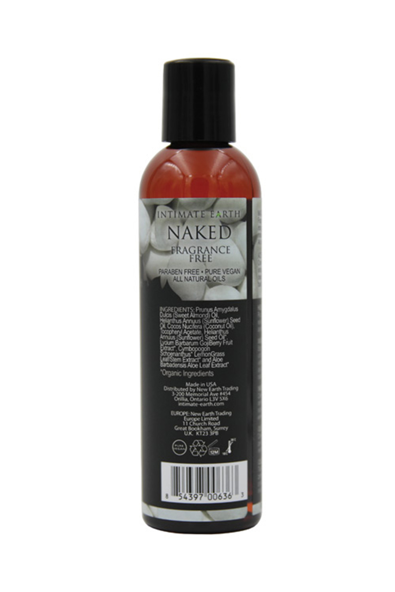 Intimate Earth Massage Oil - Naked 240ml