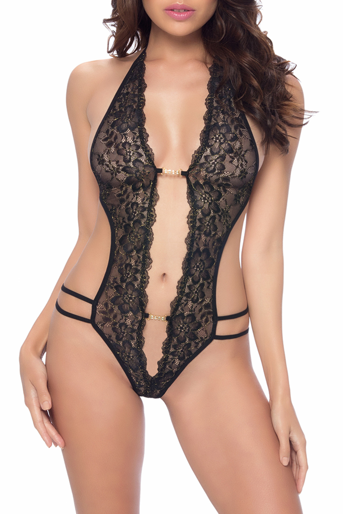 Royal Welcome Crotchless Lace Teddy