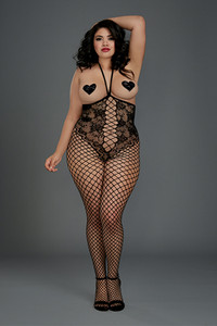 Underbust Halter Bodystocking with Open Crotch