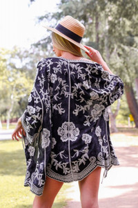 Desert Bloom Embroidered Kimono