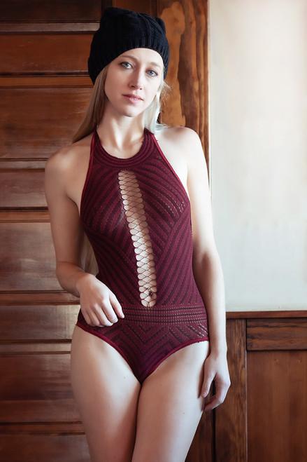Chevron Knit Bodysuit