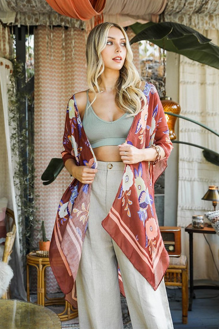 The Jenny Floral Shawl