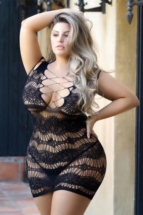 Black Mermaid Mesh Dress