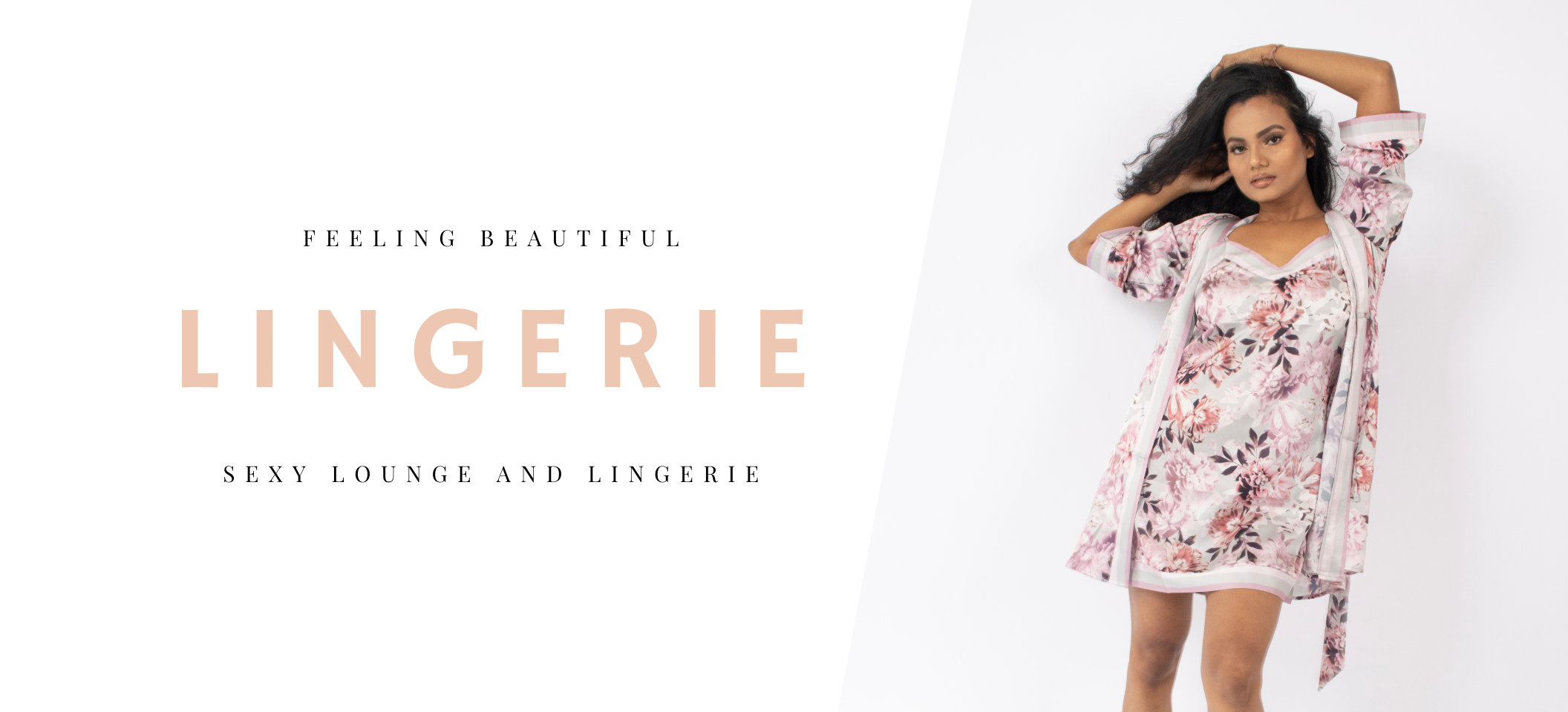 lingerie, lounge, chemise, floral, pink, grey, robe, loungewear, lounge wear, floral, sexy lingerie