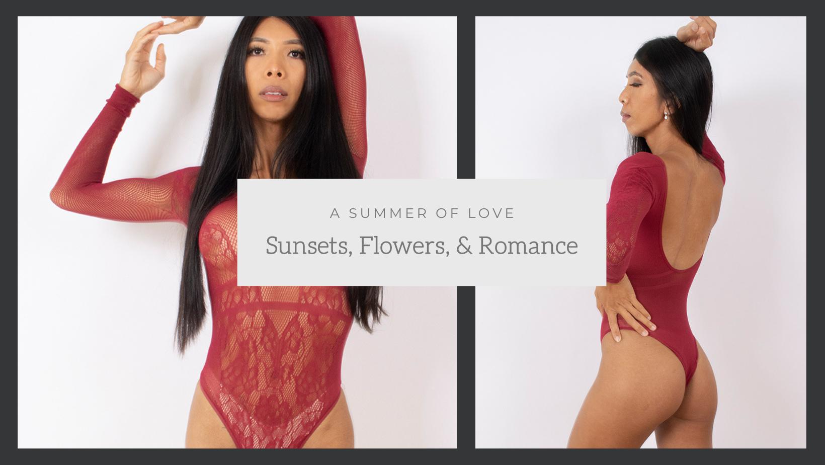 lingerie, summer, summer lingerie, rose, pink, floral, sexy, flowers, romance,