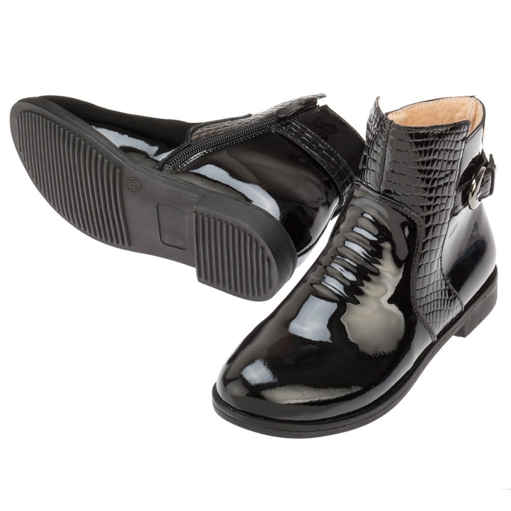 Suzi Patent Ankle Boot - Black
