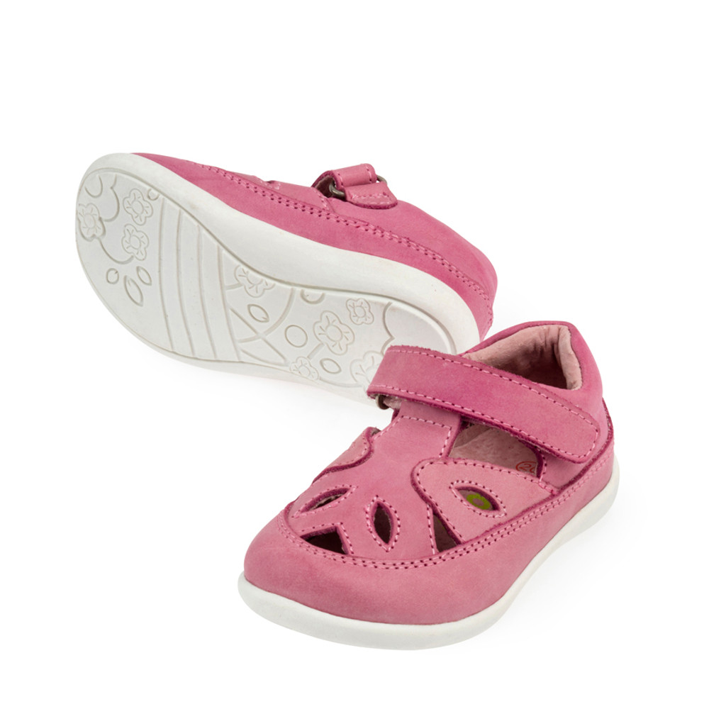 Cassidy Girls Leather Summer Shoe - Pink