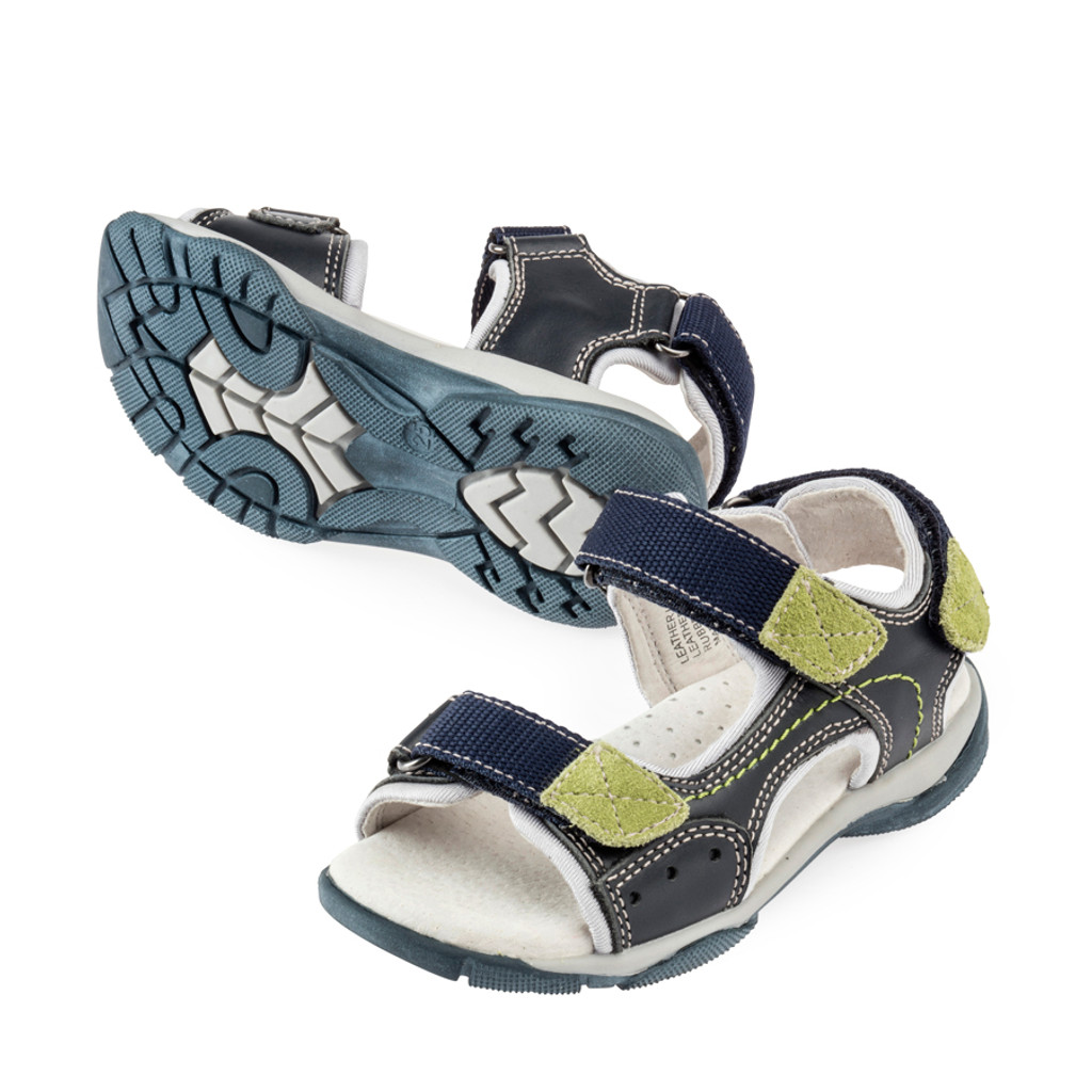 Curtis Boys Adjustable Sandal - Navy