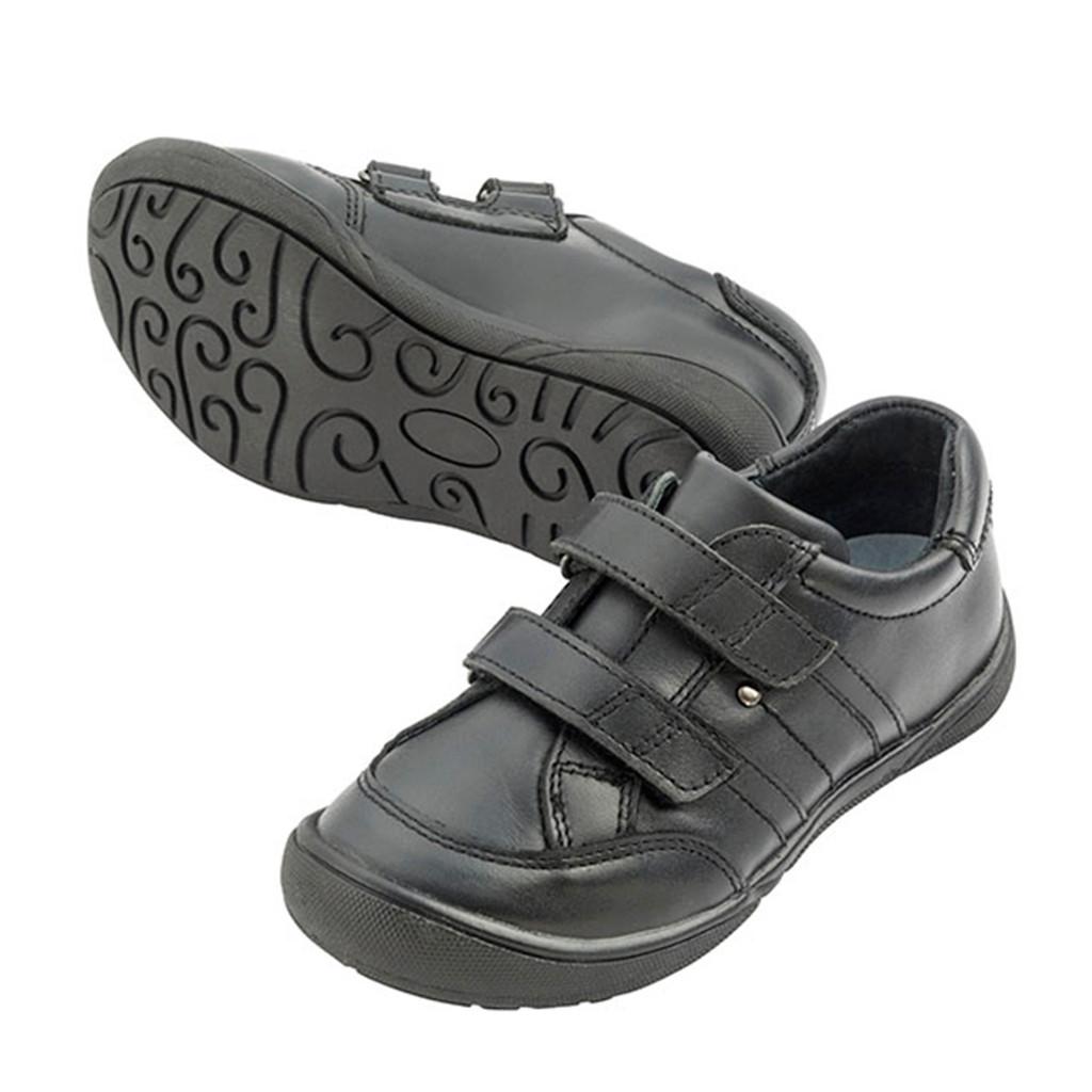 PAUL Leather Velcro Shoe - Black